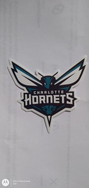 NBA CHARLOTTE HORNETS BASKETBALL TEAM LOGO DECAL STICKER for Sale in Montclair, CA