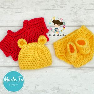 Crochet Winnie the Pooh outfit* {url removed}.order! for Sale in Zephyrhills, FL
