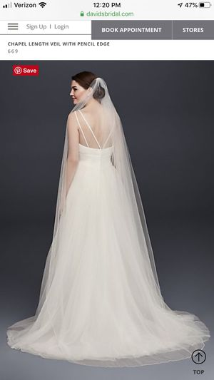 Bridal vail, wedding dress, shoes for Sale in Winchester, CA