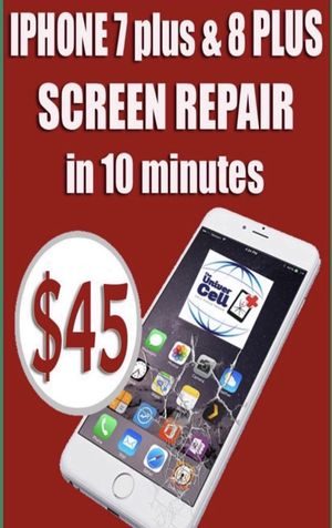 We change screen with lcd in 10 minutes, $45 for iPhone 7 plus & 8 plus , we're on 4941 E Busch blvd # 170, 33617. —— (711 plaza) for Sale in Tampa, FL