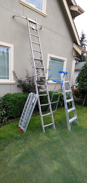 Ladder & Alum.fold.Bicycle Ramp for Sale in Renton, WA