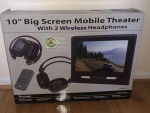 "10"" Big screen mobile theater with 2 wireless headphones for Sale in Manassas, VA"