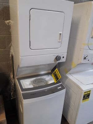 24 in wide WHIRLPOOL stackable unit gas or electric NEW 12 MONTHS WARRANTY available for pick up or deliver for Sale in Halethorpe, MD