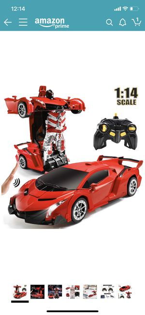 RC Car for Kids Transform Car Robot, Remote Control Super Car Toys with Gesture Sensing One-Button Deformation and 360°Rotating Drifting Light Music for Sale in Brooklyn, NY