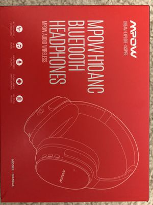 Mpow H10 Hybrid Active Noise Cancelling Headphones, Bluetooth Headphones Over Ear with Microphones, Hi-Fi Deep Bass, Memory-Protein Earmuffs, 30H Pla for Sale in Hillsboro, OR