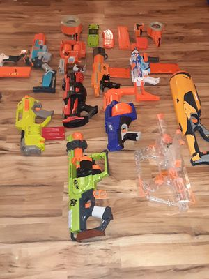 10 nerf guns. All working and barely used. Bought for a nerd gun party for Sale in West Columbia, SC