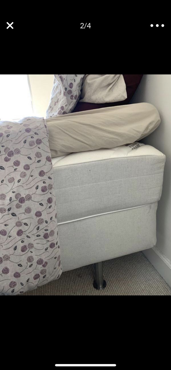 Twin size bed with 2 mattress