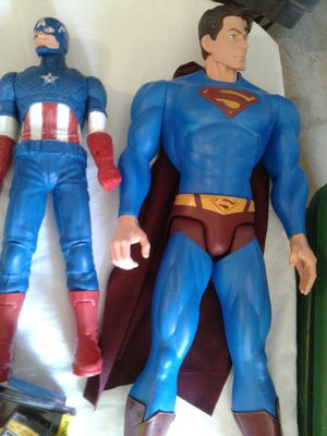 Superman and Captain America figures $35 for Sale in Powder Springs, GA