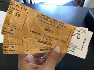 Hamilton Tickets (2) for Saturday 2/29 at 8 PM for Sale in Fort Lauderdale, FL