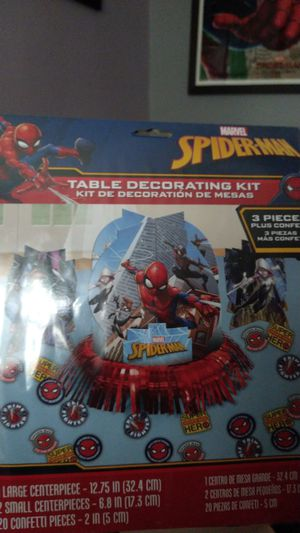 Spiderman table decoration kit for Sale in Chicago, IL