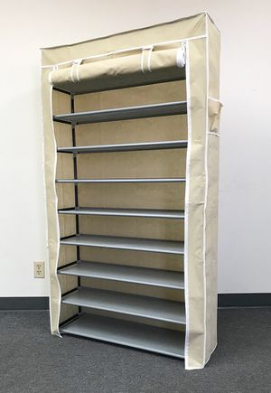 "New $25 each 10-Tiers 45 Shoe Rack Closet with Fabric Cover Storage Organizer Cabinet 36x12x62"" for Sale in South El Monte, CA"