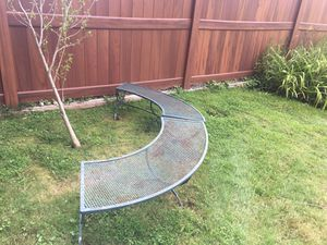 Half moon bench iron chair for Sale in White Plains, NY