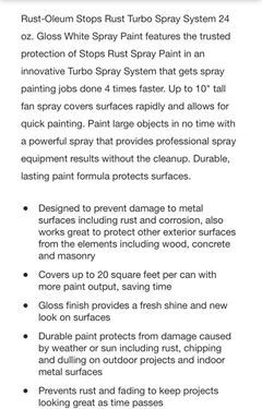 24oz Gloss White Spray Paint *New*
