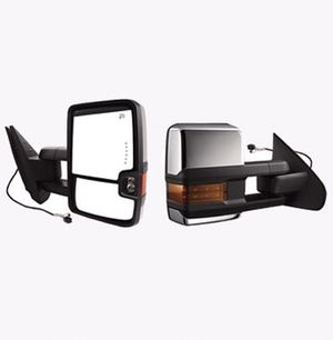 NEW Towing Mirrors for Chevy GMC, Power Heated LED Arrow Signal Light Reverse Lights, 2008-2013 Tahoe Avalanche Suburban Yukon Sierra | 4927 for Sale in Las Vegas, NV