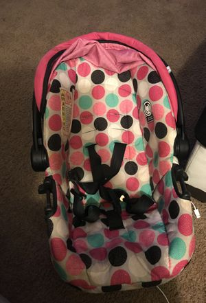 Disney infant car seat with base and cozy cover for Sale in Whitehall, OH