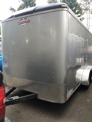 2016 cargo mate enclosed trailer 7x14x7' height extra tall for Sale in West Linn, OR