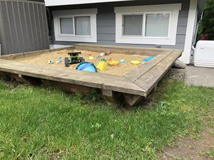 Custom built cedar sand box for Sale in Bonney Lake, WA