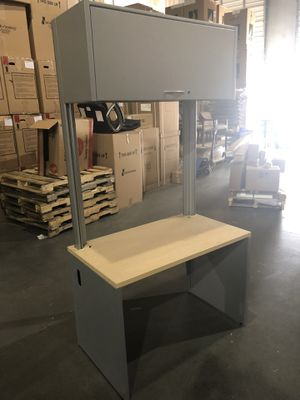 Teknion desk with overhead unit NEW for Sale in Norcross, GA