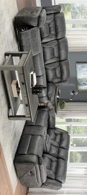 Madrona hill gray sofa and loveseat for Sale in Houston, TX