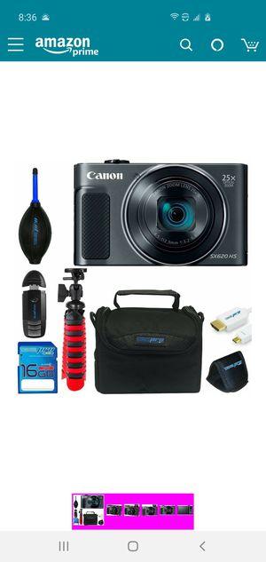 "Canon Powershot SX620 (Black) + 12"" Tripod + 16GB Memory Card + Pixi-Basic Accessory Bundle for Sale in Herndon, VA"
