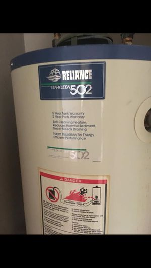 Reliance STA-KLEEN 502 water heater for Sale in Bellaire, TX