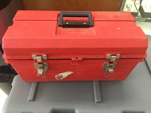 Red tool box with tools for Sale in Odenton, MD