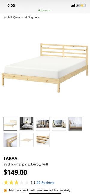 IKEA pine FULL bed frame for Sale in Miami, FL