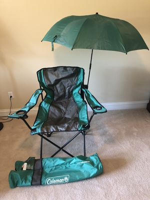 Coleman oversized quad chair with adjustable (removable) umbrella for Sale in St. Louis, MO