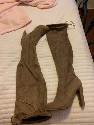 Swayed nude thighs high boots for Sale in Sugar Land, TX