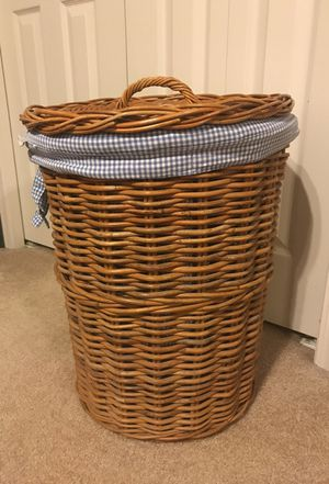 Pottery Barn Kids Wicker Hamper with liner for Sale in West Bloomfield Township, MI