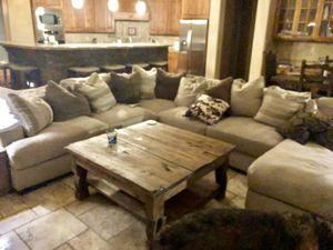 Large Lt. Gray Sectional Sofa w Chez for Sale in Phoenix, AZ