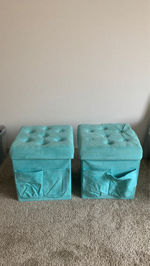 Teal Foldable Foot Stools for Sale in Tacoma, WA