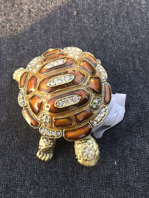 Turtle jewelry box wedding ring engagement girls Christmas gift for Sale in Garden Grove, CA