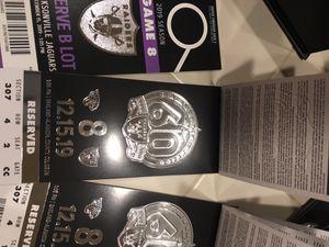 Raiders vs Jaguars 12/15 last game ever in Oakland for Sale in Stockton, CA