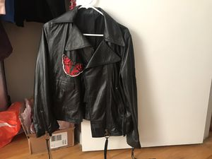 Real leather jacket like new XL for Sale in Columbus, OH