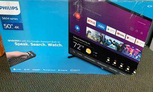"Brand New Philips TV! 50"" inch open box w/ warranty G H for Sale in Saginaw, TX"