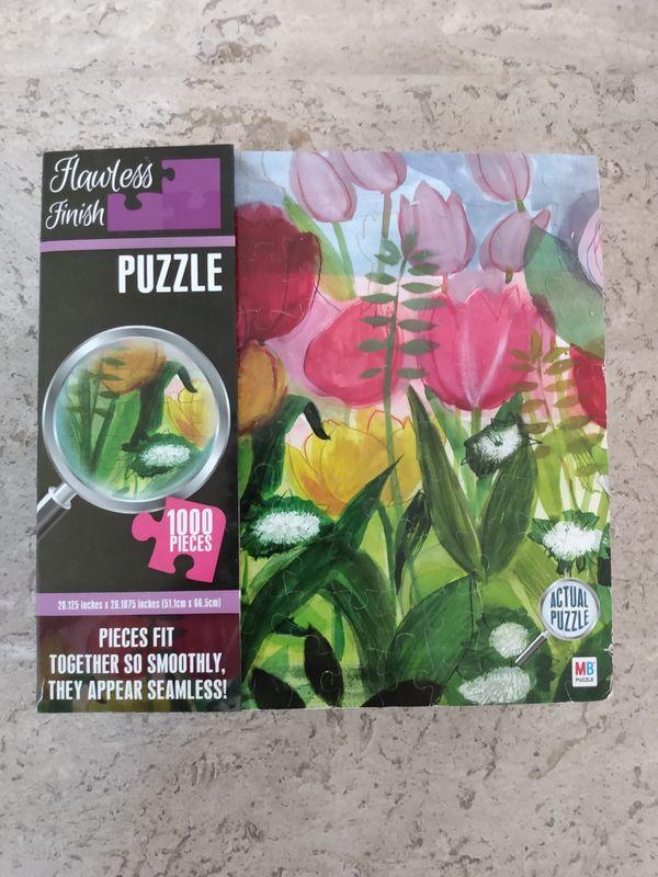 1000 piece puzzle, Watercolor Tulips