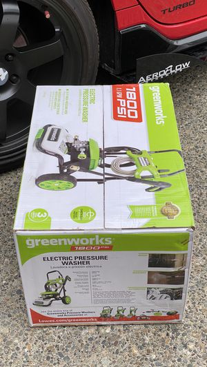 Greenworks Pro 1800-PSI Water Electric Pressure Washer $150 firm for Sale in Federal Way, WA