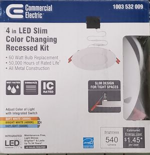 4in LED slim color changing recessed kit for Sale in Norwich, NY