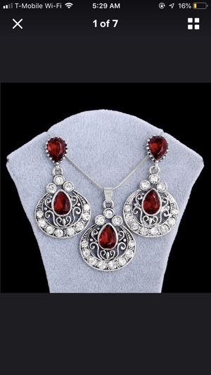 Beautiful silver necklace set for Sale in Falls Church, VA