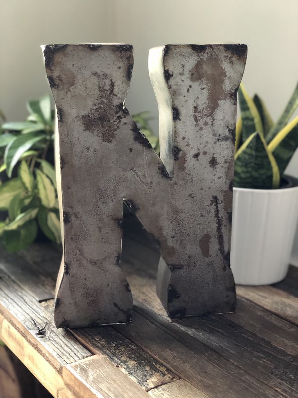 Metal Home Decor Letter N For Sale In Mt Juliet Tn Offerup