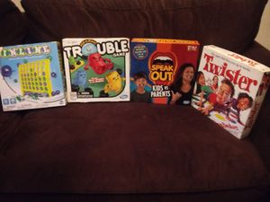 I'm selling four family game's.good for the holidays for Sale in Providence, RI