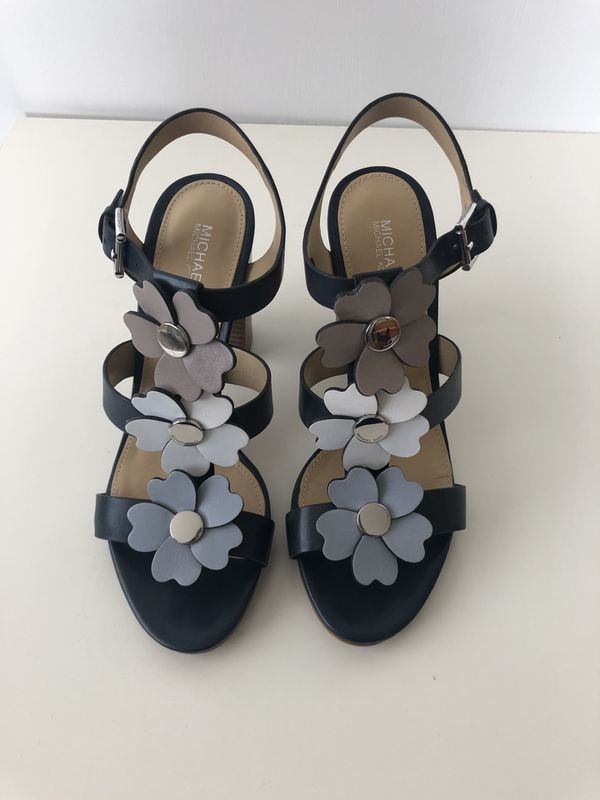 Michael Kors Navy Flower Sandals 7.5