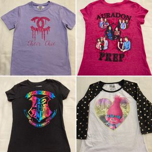 Girls clothes shirts tops size 6-8 & 7/8 (Cheer Chic, Descendants, Harry Potter, Trolls) for Sale in Miami, FL