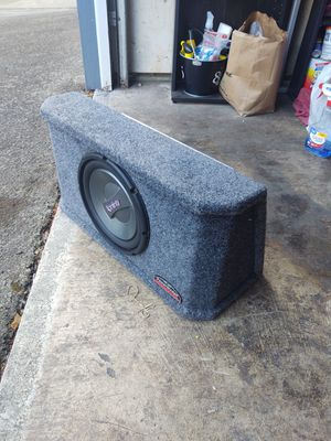 MTX Blue Thunder Pro 400x5 Amp, Infinity 1050w 10-Inch Subwoofer, and PowerWedge by JL Audio box. for Sale in Beaverton, OR