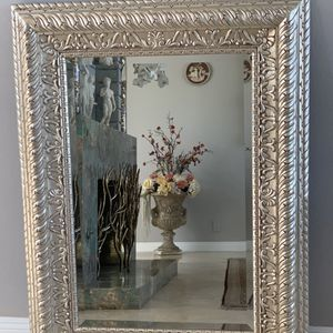 """49""""x37"""" absolutely beautiful silver mirror. This mirror lighten up any room in your house for Sale in Laguna Niguel, CA"""