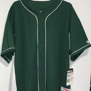 Wilson Green Baseball Jersey for Sale in Belleville, NJ