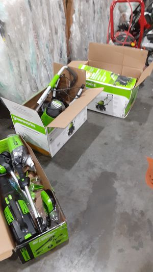 Greenworks lawn equipment. for Sale in Jessup, MD