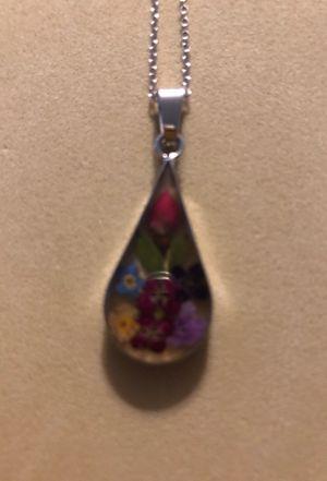 Dried flower charm necklace for Sale in Phoenix, AZ