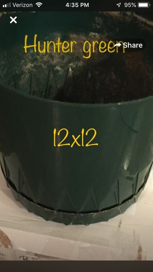Green large flower pot approx 12x12 for Sale in Colorado Springs, CO